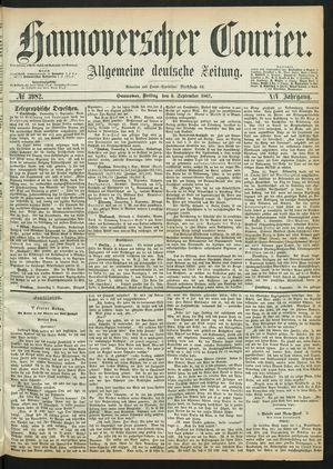 Hannoverscher Kurier on Sep 6, 1867