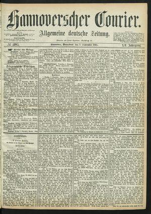 Hannoverscher Kurier vom 07.09.1867