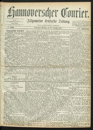 Hannoverscher Kurier on Sep 10, 1867