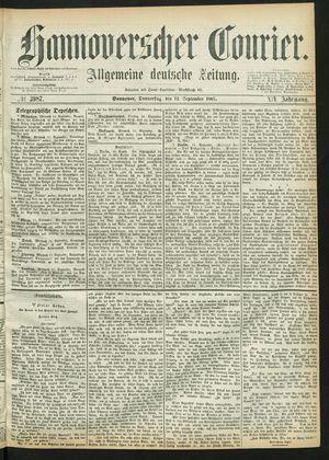 Hannoverscher Kurier vom 12.09.1867