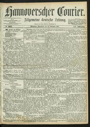 Hannoverscher Kurier vom 14.09.1867