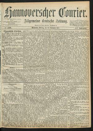 Hannoverscher Kurier vom 16.09.1867