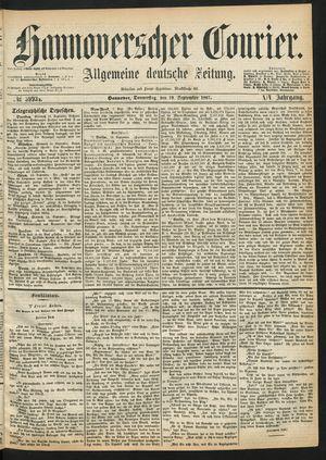 Hannoverscher Kurier on Sep 19, 1867
