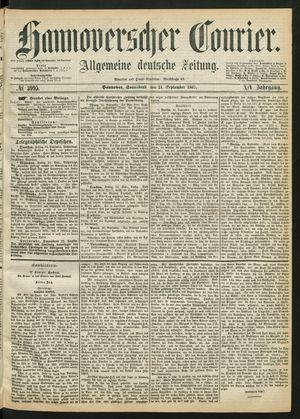 Hannoverscher Kurier vom 21.09.1867