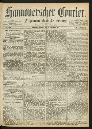 Hannoverscher Kurier vom 24.09.1867
