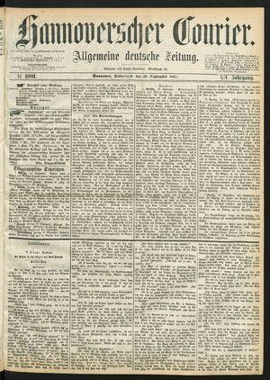 Hannoverscher Kurier vom 28.09.1867
