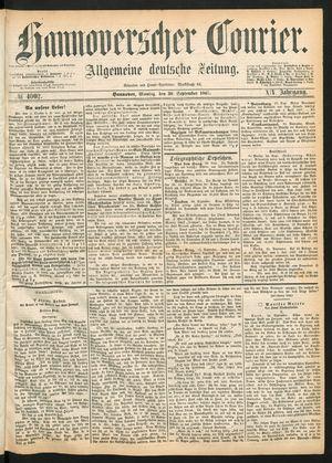 Hannoverscher Kurier vom 30.09.1867