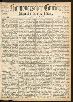 Hannoverscher Kurier vom 01.10.1867