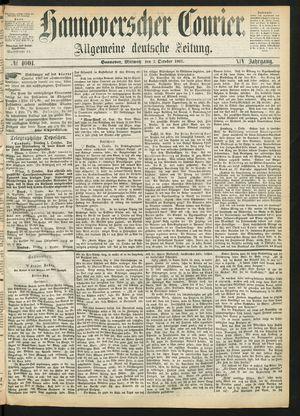 Hannoverscher Kurier vom 02.10.1867