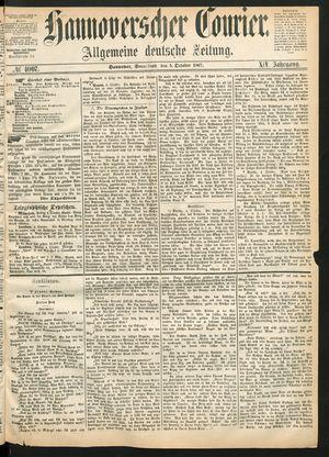 Hannoverscher Kurier vom 05.10.1867