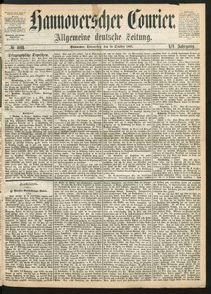 Hannoverscher Kurier vom 10.10.1867