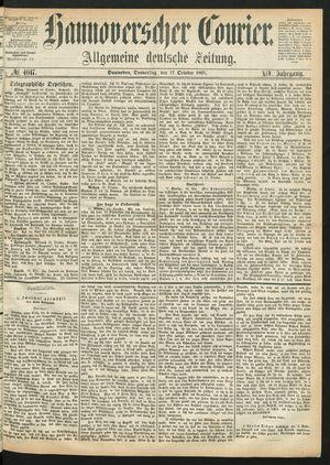 Hannoverscher Kurier vom 17.10.1867