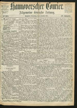 Hannoverscher Kurier vom 24.10.1867