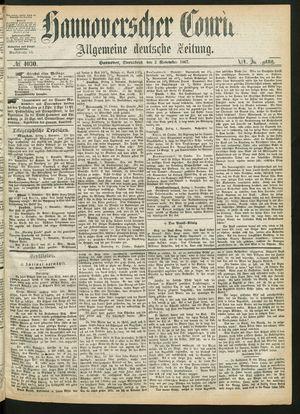 Hannoverscher Kurier vom 02.11.1867