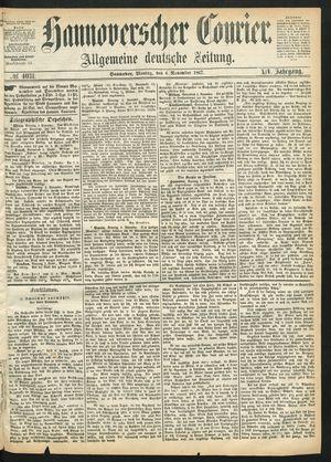 Hannoverscher Kurier vom 04.11.1867