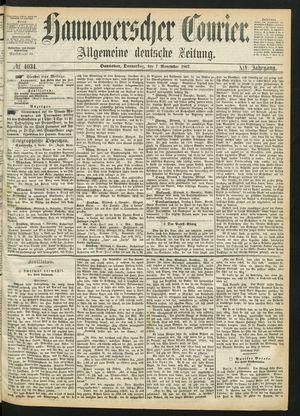 Hannoverscher Kurier vom 07.11.1867