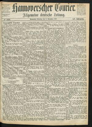 Hannoverscher Kurier vom 12.11.1867