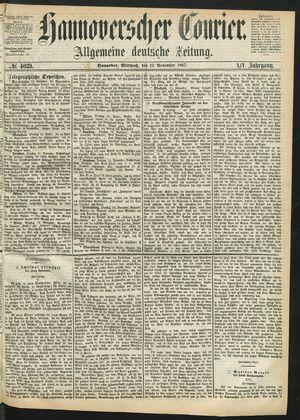 Hannoverscher Kurier vom 13.11.1867