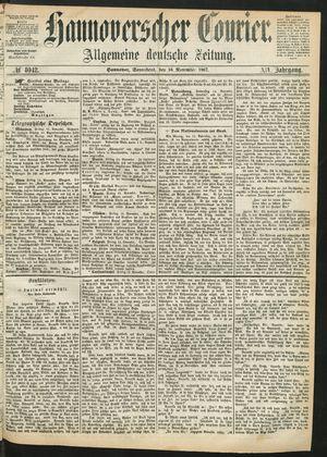 Hannoverscher Kurier vom 16.11.1867