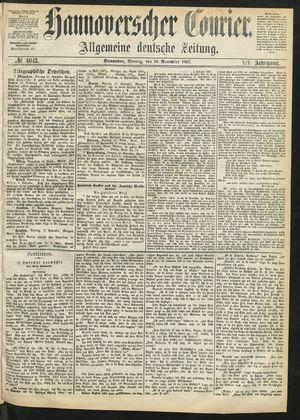 Hannoverscher Kurier on Nov 18, 1867
