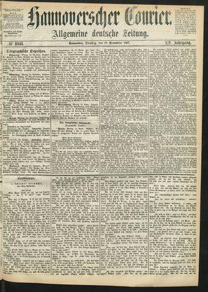 Hannoverscher Kurier vom 19.11.1867