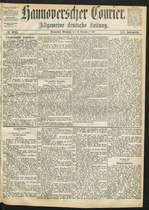 Hannoverscher Kurier vom 20.11.1867