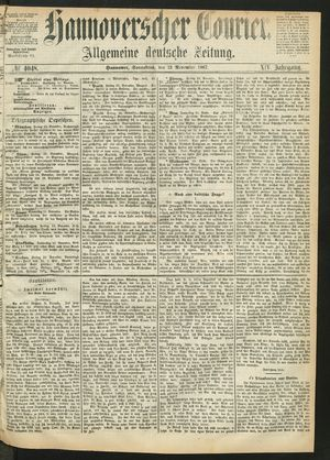 Hannoverscher Kurier vom 23.11.1867