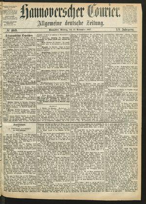 Hannoverscher Kurier vom 25.11.1867