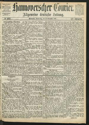Hannoverscher Kurier vom 28.11.1867