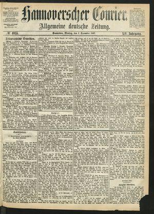 Hannoverscher Kurier vom 02.12.1867