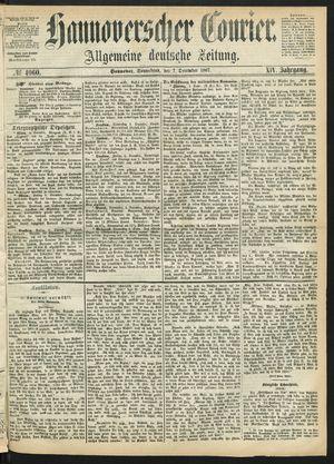 Hannoverscher Kurier vom 07.12.1867