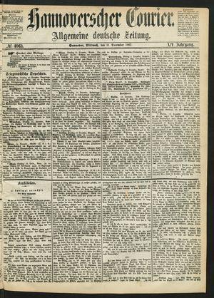 Hannoverscher Kurier vom 11.12.1867