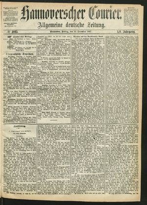 Hannoverscher Kurier vom 13.12.1867