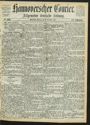 Hannoverscher Kurier on Dec 16, 1867