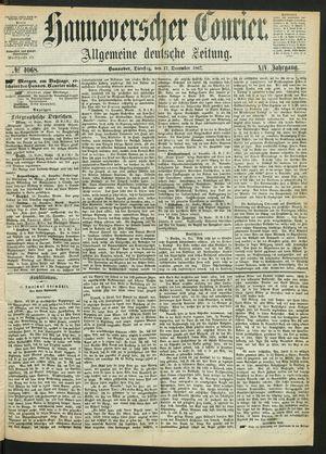 Hannoverscher Kurier on Dec 17, 1867