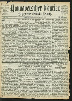 Hannoverscher Kurier vom 28.12.1867