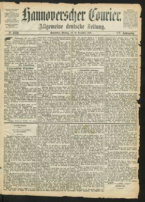Hannoverscher Kurier on Dec 30, 1867