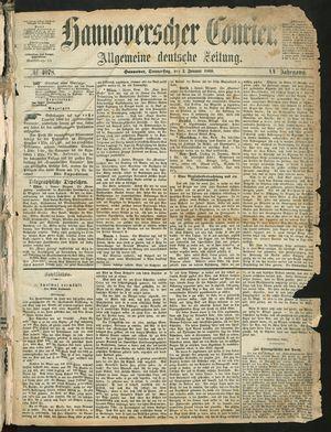 Hannoverscher Kurier vom 02.01.1868