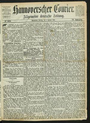 Hannoverscher Kurier vom 03.01.1868