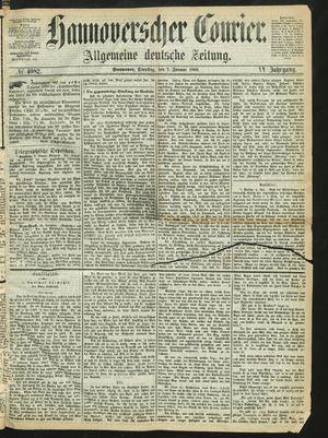 Hannoverscher Kurier vom 07.01.1868