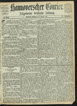 Hannoverscher Kurier vom 08.01.1868
