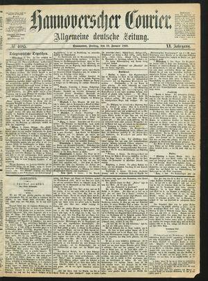 Hannoverscher Kurier vom 10.01.1868