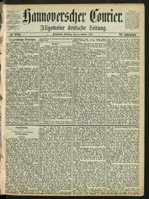 Hannoverscher Kurier on Jan 14, 1868