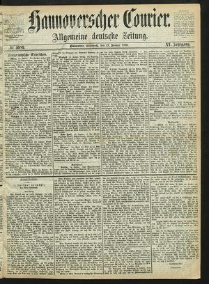Hannoverscher Kurier vom 15.01.1868