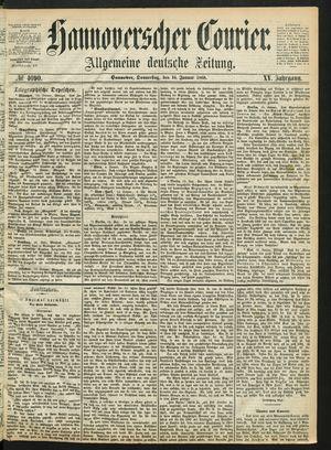 Hannoverscher Kurier vom 16.01.1868