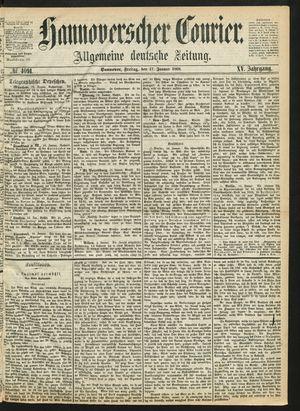 Hannoverscher Kurier vom 17.01.1868