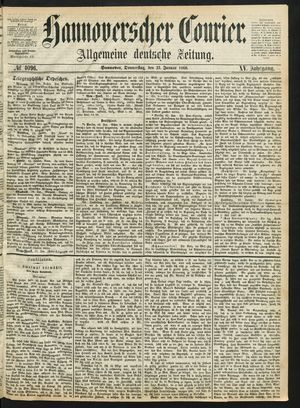 Hannoverscher Kurier vom 23.01.1868
