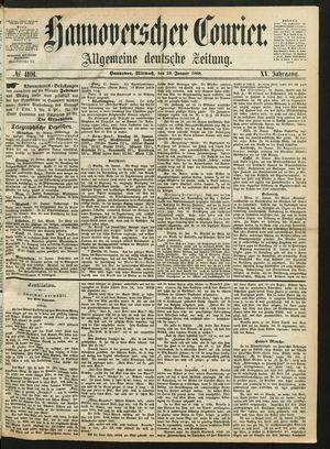 Hannoverscher Kurier vom 29.01.1868