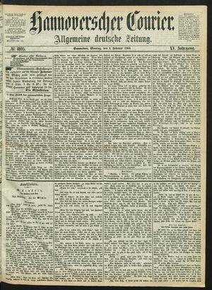 Hannoverscher Kurier vom 03.02.1868