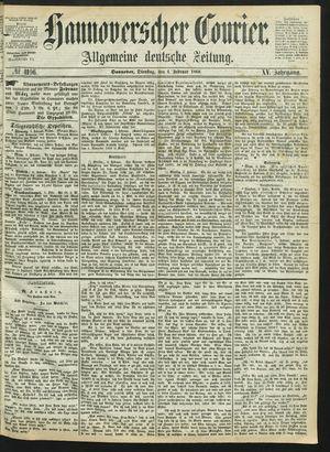 Hannoverscher Kurier vom 04.02.1868
